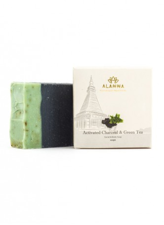 Alanna Activated Charcoal and Green Tea Soap (Pack of 2)