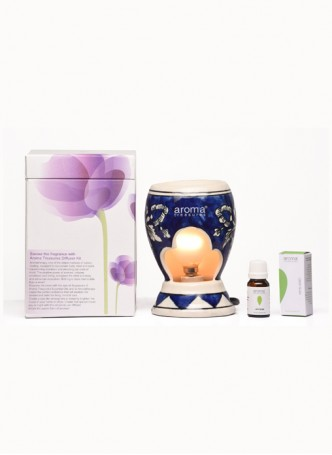 Aroma Treasures Electric Diffuser - Blue Art with Lemon Grass Oil