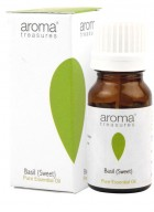 Aroma Treasures Basil (Sweet) 100% Pure Natural Essential Oil (Pack of 2)