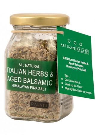 Artisan Palate Natural Italian Herbs, Aged Balsamic Himalayan Pink Salt (Pack of 2)