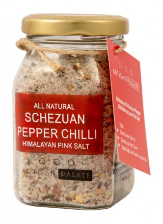 Artisan Palate Natural Schezwan Pepper Chilli with Himalayan Pink Salt (Pack of 2)