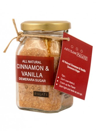 Artisan Palate Natural Cinnamon & Vanilla Demerara Sugar (Pack of 2)
