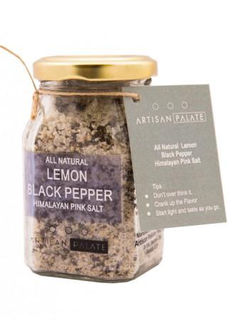Artisan Palate Natural Lemon Black Pepper Himalayan Pink Salt (Pack of 2)