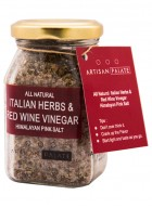 Artisan Palate Natural Italian Herbs and Red Wine Vinegar Himalayan Pink Salt (Pack of 2)