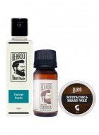 Beardo The Irish Royale Beard Oil (30ml), Beard Wash (100ml) & Beard Wax (50g) Combo