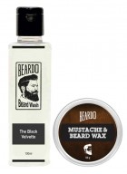 Beardo The Black Velvette Beard Wash (100ml) & Beard Wax (50g) Combo