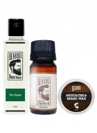 Beardo The Classic Beard Oil (30ml), Beard Wash (100ml) & Beard Wax (50g) Combo