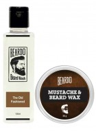 Beardo The Old Fashioned Beard Wash (100ml) & Beard Wax (50g) Combo