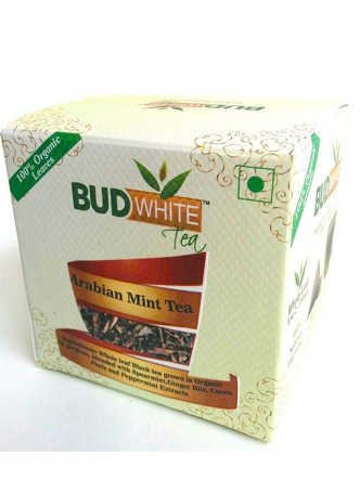 Budwhite Teas Arabian Mint Green Tea-20 Pyramid Teabags