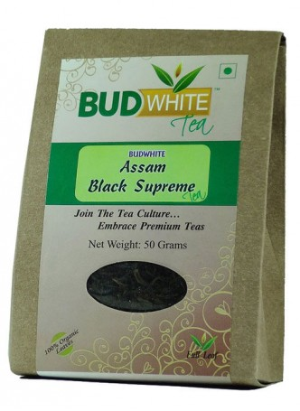 BudWhiteTeas Assam Black Supreme Tea (50 Gms Pack)