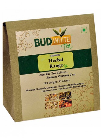 BudWhiteTeas Combo Pack of Herbal Tea Range (4x12.5 Gms Loose Tea)