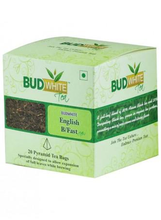 BudWhiteTeas English Breakfast Tea (20 Pyramid Tea Bags)