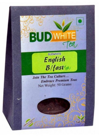 BudWhiteTeas English Breakfast Tea (50 Gms Pack)