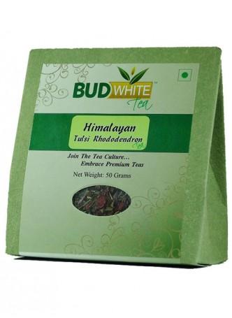 BudWhiteTeas Himalayan Tulsi Rhododendron Tea (50 Gms Pack)