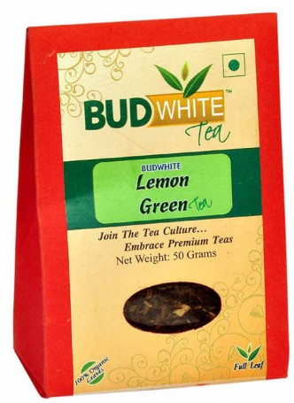 BudWhiteTeas Lemon Green Tea (50 Gms Pack)