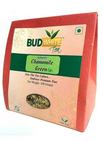 Budwhite Teas Chamomile Green Tea-100 Gm Loose