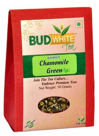 Budwhite Teas Chamomile Green Tea-50 Gm Loose