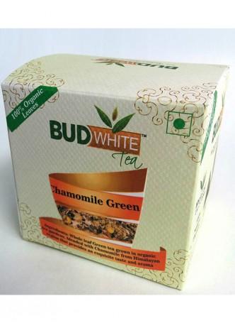 Budwhite Teas Chamomile Green Tea-20 Pyramid Teabags