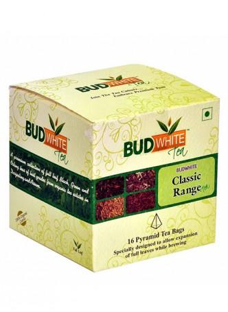 Budwhite Teas Classic Tea Combo-16 Pyramid Teabags