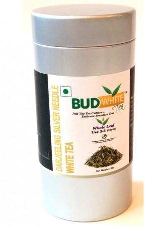 Budwhite Teas Darjeeling Silver Needle White Tea-50 Gm Loose Tin