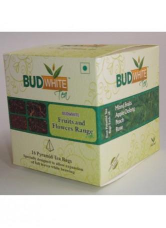 Budwhite Teas Fruits And Flowers Tea Combo-16 Pyramid Teabags