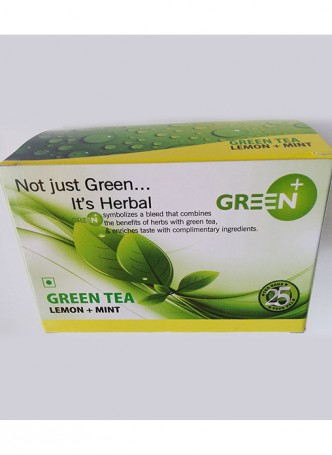 Budwhite Teas Green+ Lemon Mint-25 Teabags