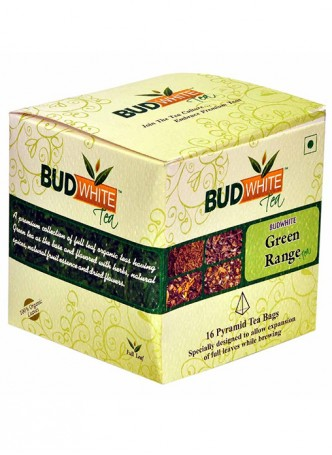 Budwhite Teas Green Tea Combo-16 Pyramid Teabags