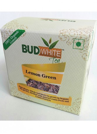 Budwhite Teas Lemon Green Tea-20 Pyramid Teabags