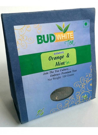 Budwhite Teas Orange And Mint Tea-100 Gm Loose