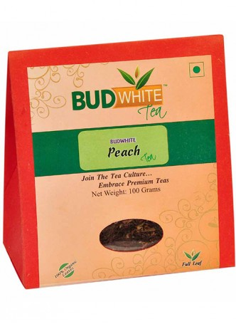 Budwhite Teas Peach Tea-100 Gm Loose