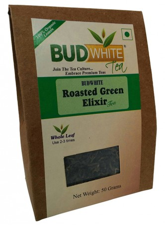 Budwhite Teas Roasted Green Tea-50 Gm Loose