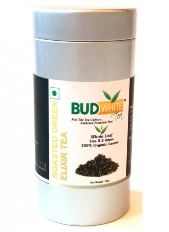 Budwhite Teas Roasted Green Tea-50 Gm Loose Tin