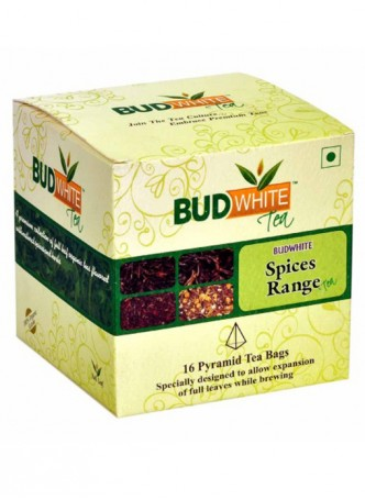 Budwhite Teas Spices Tea Combo-16 Pyramid Teabags