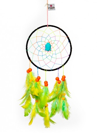 Dream Catcher by Rooh-Psychedelic Neon with Blue Buddha (Medium)