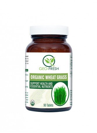 Geo-Fresh Organic Wheat Grass Tablet ( 90 Tablets ) - 500 mg - USDA Certified