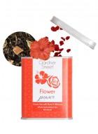 Gardner Street Pyramid Tea Bag  - Flower Power (Green Tea with Rose & Hibiscus)