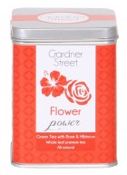 Gardner Street Pyramid Tea Bag  - Flower Power (Green Tea with Rose & Hibiscus)