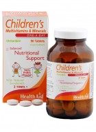 HealthAid Children's MultiVitamins-Minerals 90 Chewable Tablets