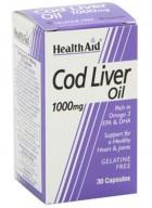 HealthAid Cod Liver Oil 1000mg 60 Capsules