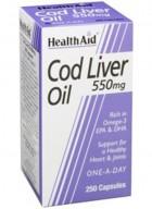 HealthAid Cod Liver Oil 550mg 90 Capsules