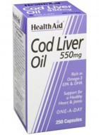 HealthAid Cod Liver Oil 550mg 250 capsules