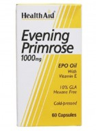 HealthAid Evening Primrose Oil 1000mg With Vitamin E 60 Capsules