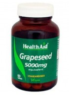 HealthAid Grapeseed Extract 5000mg-Equivalent 60 Capsules