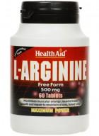 HealthAid L-Arginine 500mg-Free Form