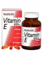 HealthAid Vitamin E 600iu-d-alpha Tocopherol 30 Capsules