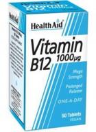 HealthAid Vitamin B12 1000mcg Mega Stremgth (Cyanocobalamin)