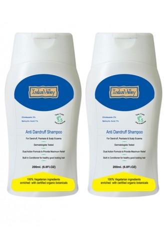 Indus Valley Organic Anti Dandruff Shampoo (Pack of 2)