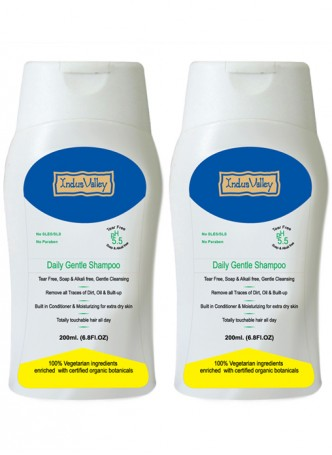 Indus Valley Natural Daily gentle Shampoo (Pack of 2)