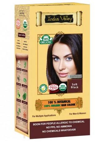 Indus Valley 100% Oragnic Soft Black Hair Colour