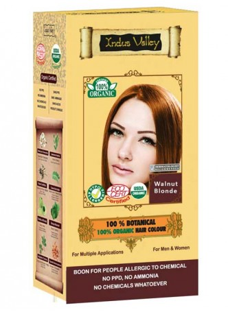 Indus Valley 100% Botanical 100% Organic Walnut Blonde Hair Colour